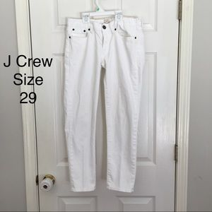 "J Crew cropped white jeans size 29 (26"" inseam)"